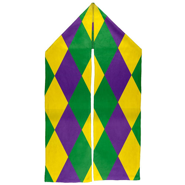 Mardi Gras Jester Warm Fleece Scarf