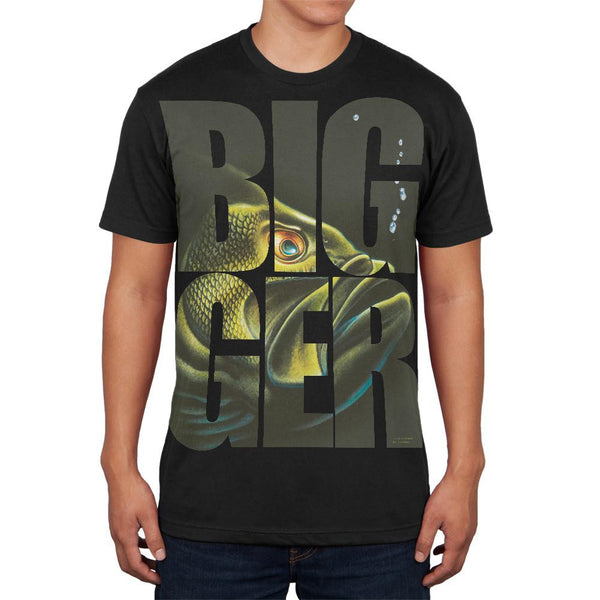 Size Does Matter Bass Basszilla Black Adult Soft T-Shirt