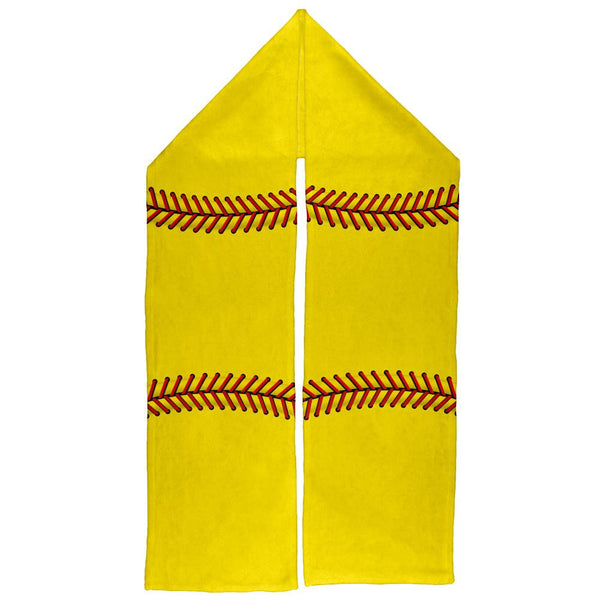 Yellow Softball Warm Fleece Scarf