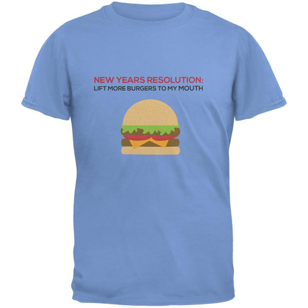 New Years Resolution Burger Carolina Blue Adult T-Shirt
