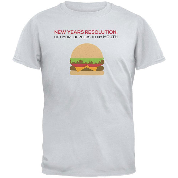 New Years Resolution Burger Ice Gray Adult T-Shirt