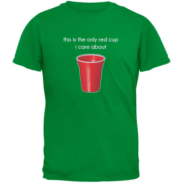 The Only Red Cup I Care About Irish Green Adult T-Shirt