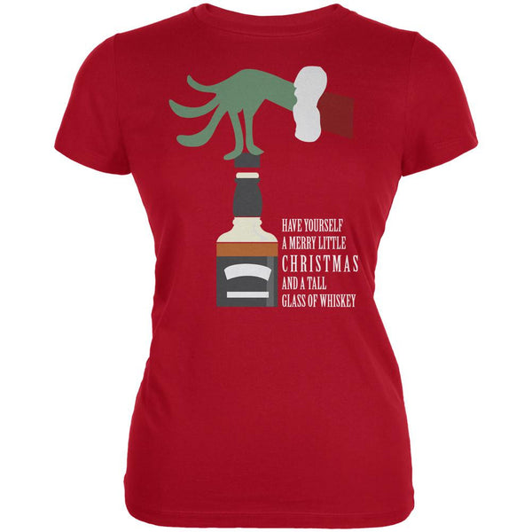 Christmas Merry Little Whiskey Red Juniors Soft T-Shirt