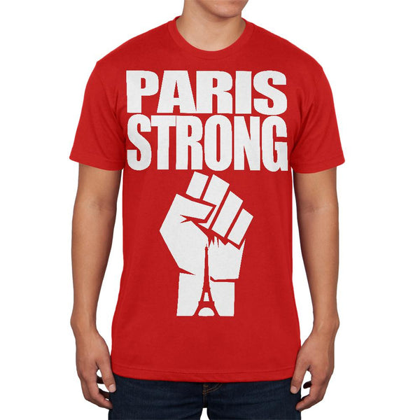 Paris Strong Red Adult Soft T-Shirt