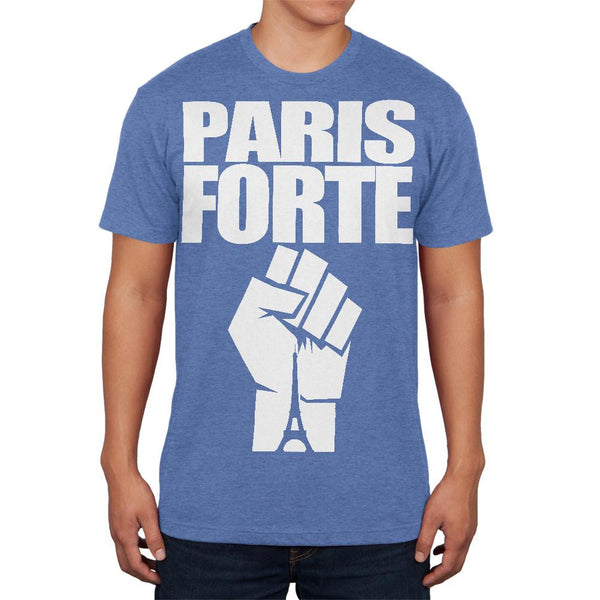 Paris Strong Forte Heather Blue Adult Soft T-Shirt