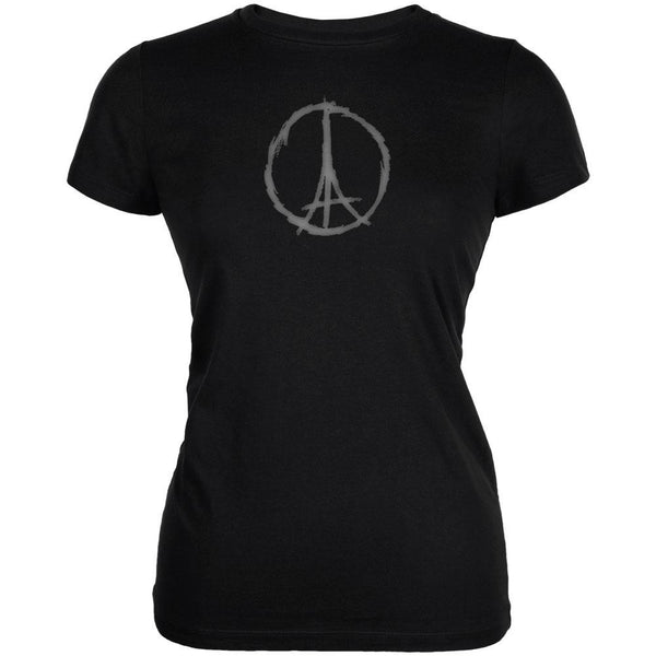 Peace for Paris Black Juniors Soft T-Shirt