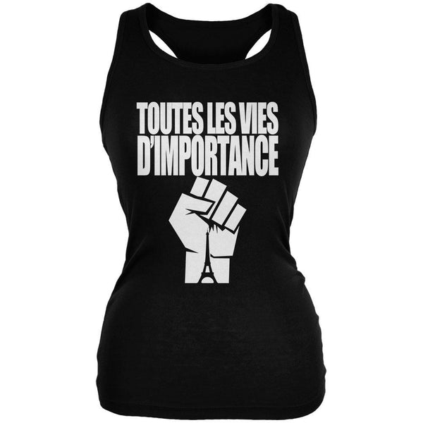 Toutes les Vies D'Importance Black Juniors Soft Tank Top