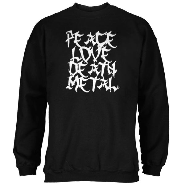 Peace Love Death Metal Black Adult Sweatshirt