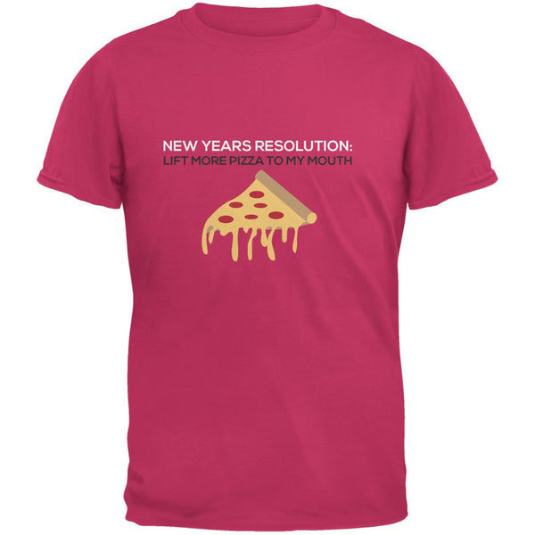 New Years Resolution Pizza Azalea Adult T-Shirt