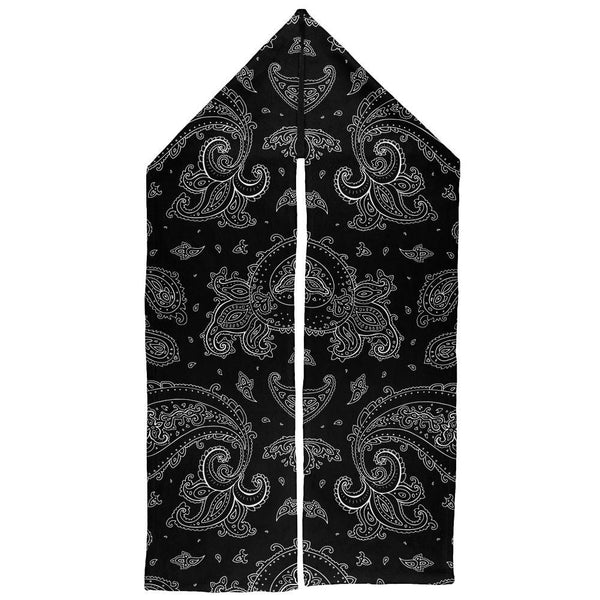 Black Paisley Warm Fleece Scarf