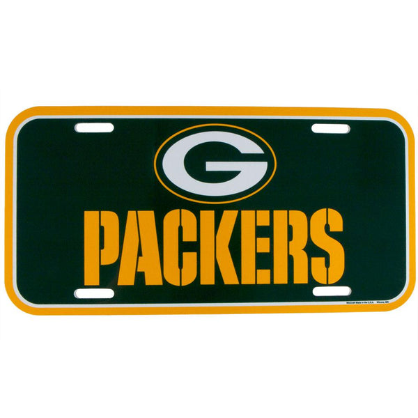 Green Bay Packers - Logo & Name Acrylic Lisence Plate