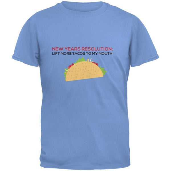New Years Resolution Taco Carolina Blue Adult T-Shirt
