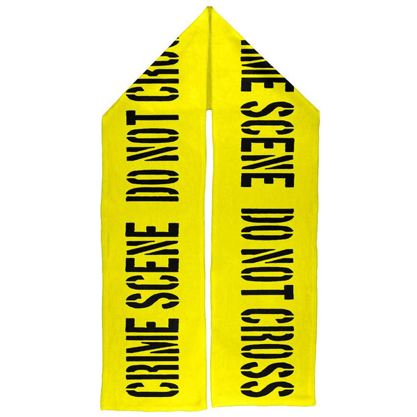 Crime Scene Do Not Cross Warm Fleece Scarf