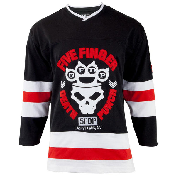 Five Finger Death Punch - Skull Knuckle Crown Adult Replica Hockey Jersey
