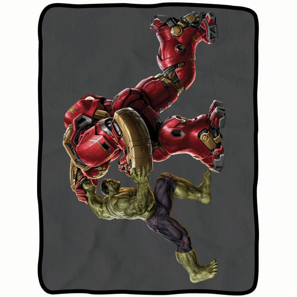 Avengers - Hulk Vs Iron Man Fleece Throw Blanket