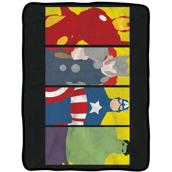 Marvel Avengers - 4 Heroes Fleece Throw Blanket