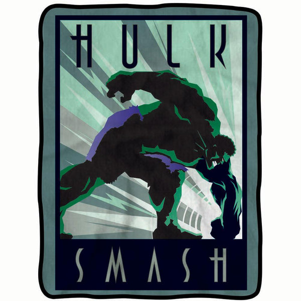 Incredible Hulk - Smash Fleece Throw Blanket