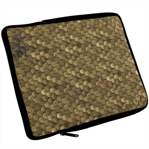 Battle Damage Bronze Scale Armor Costume iPad Tablet Sleeve