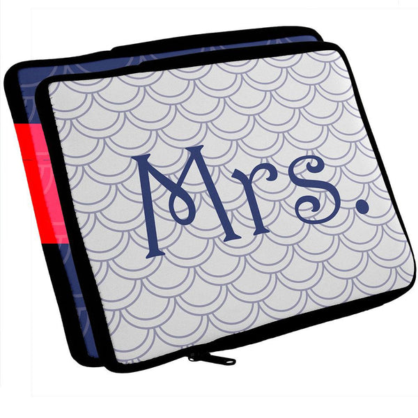 Mrs & Mrs Honeymoon LGBT Honeymoon Navy iPad Tablet Sleeve Set