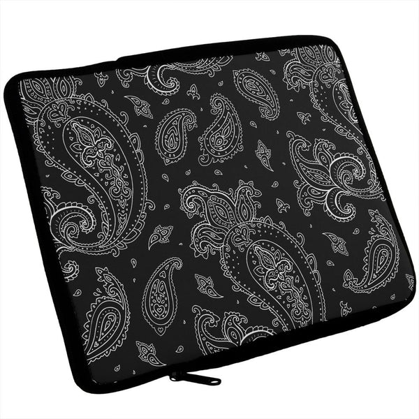 Black Paisley iPad Tablet Sleeve