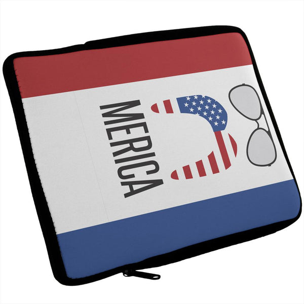 Merica Sunglasses and Mustache iPad Tablet Sleeve
