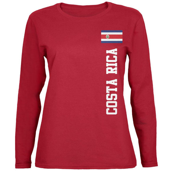 World Cup Costa Rica Red Womens Long Sleeve T-Shirt
