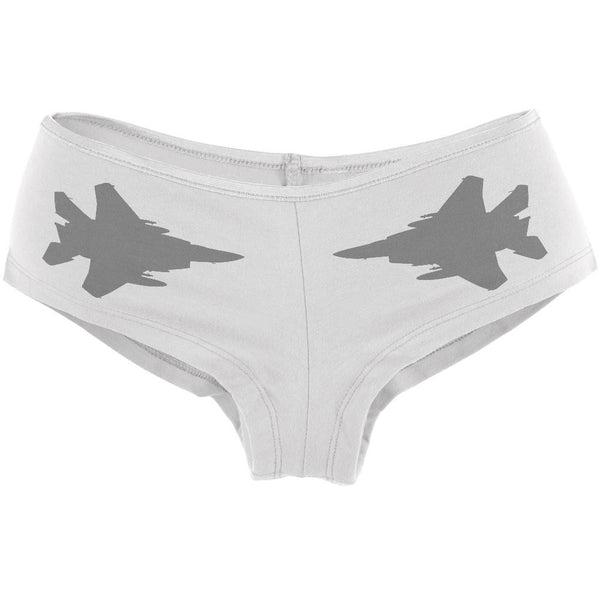 Negative Ghostrider Patter Full White Women's Booty Shorts