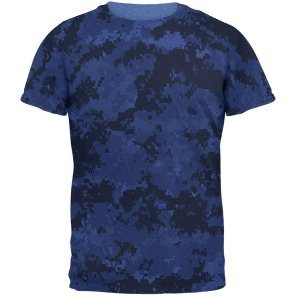 Urban Digital Camo All Over Heather Blue Adult T-Shirt
