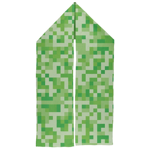 Green Pixels Warm Fleece Scarf