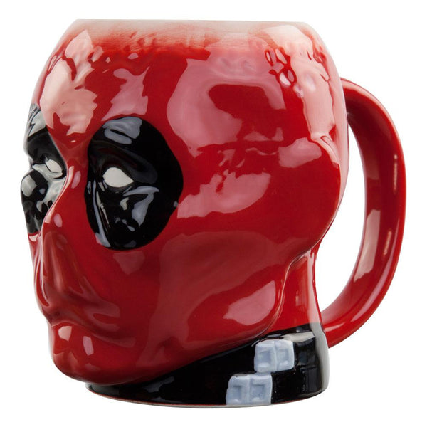 Deadpool - Crazy Head Molded Coffee Mug