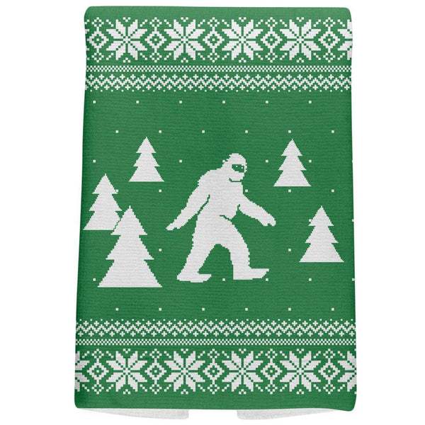 Sasquatch Ugly Christmas Sweater All Over Hand Towel