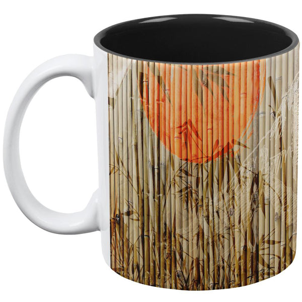 Bamboo Fade White-Black All Over Coffee Mug