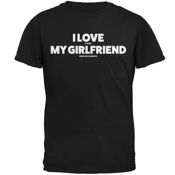 Valentines I Love My Girlfriend Sammich Black Adult T-Shirt