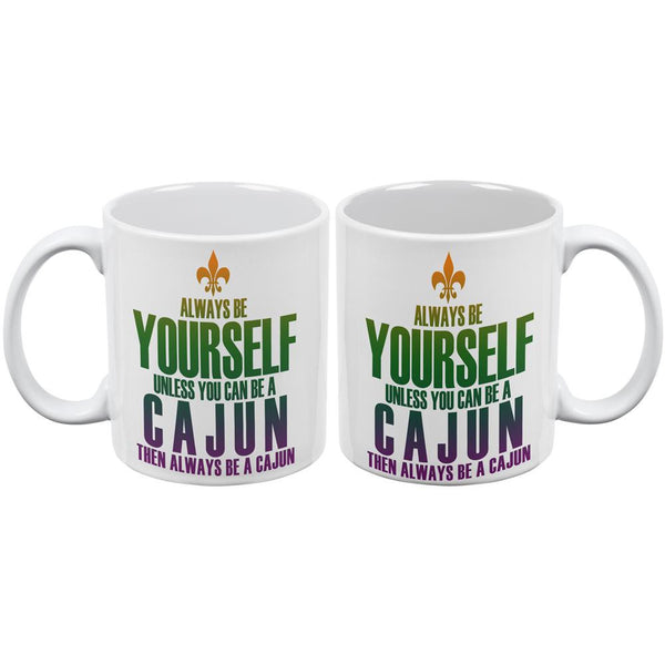 Mardi Gras Always Be Yourself Cajun White All Over Coffee Mug Set Of 2