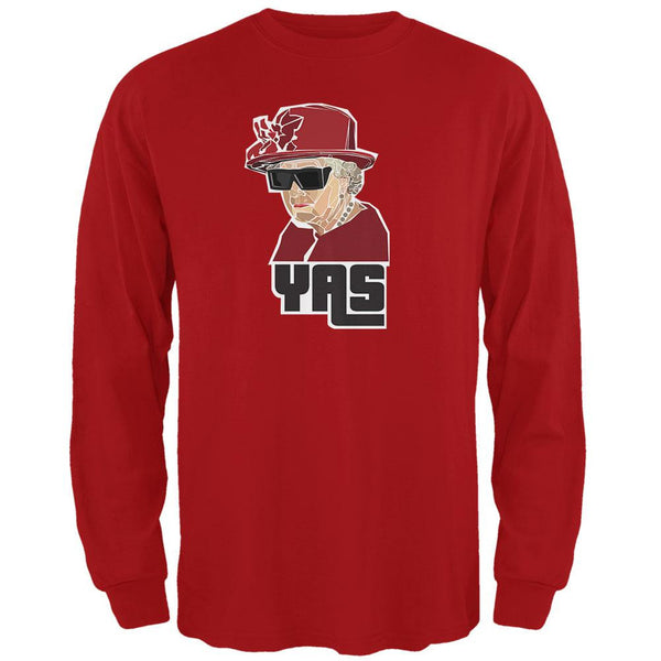 YAS Queen Red Adult Long Sleeve T-Shirt