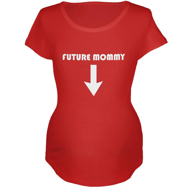 Future Mommy Red Maternity Soft T-Shirt