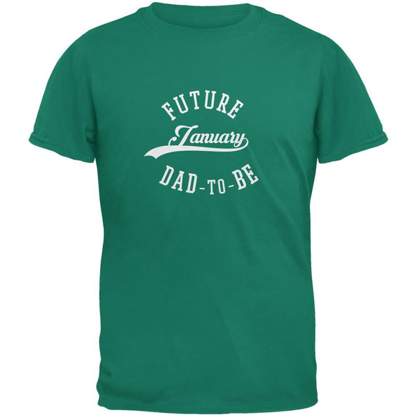 January Dad to Be Jade Green Adult T-Shirt