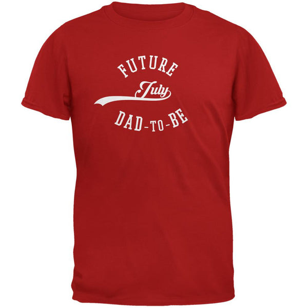July Dad to Be Red Adult T-Shirt