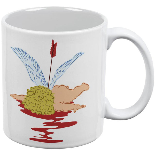 Valentines Cupid Is Dead White All Over Coffee Mug