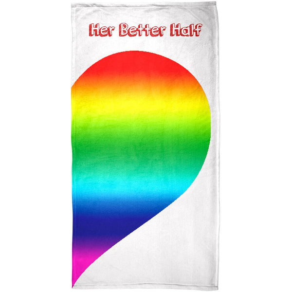 LGBT Her Better Half Right All Over Beach Towel