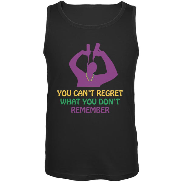 Can't Regret Mardi Gras Black Adult Tank Top