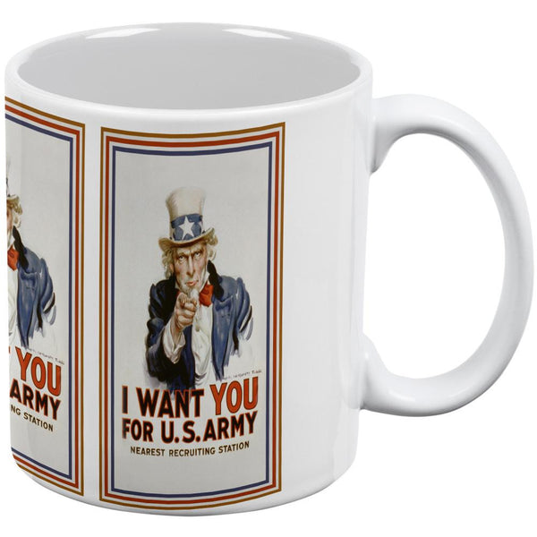 4th of July Uncle Sam Poster White All Over Coffee Mug