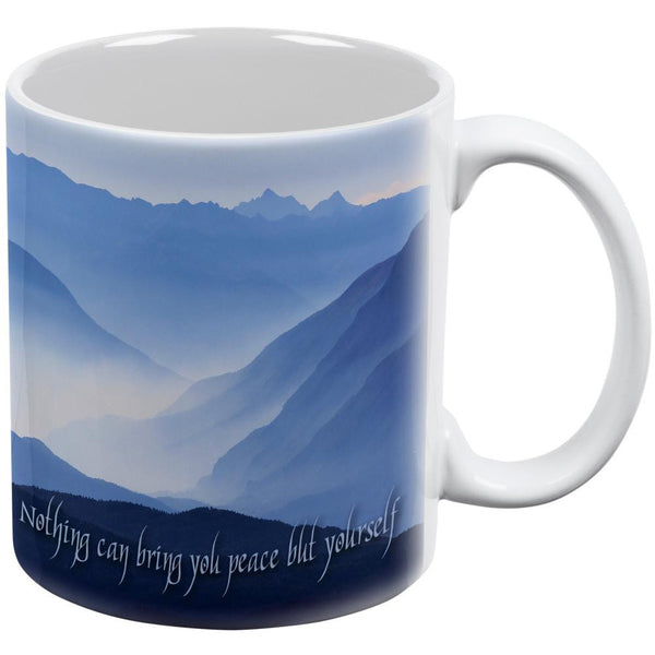 Bring Peace Yourself Emerson White All Over Coffee Mug
