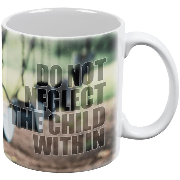 Child Within White All Over Coffee Mug