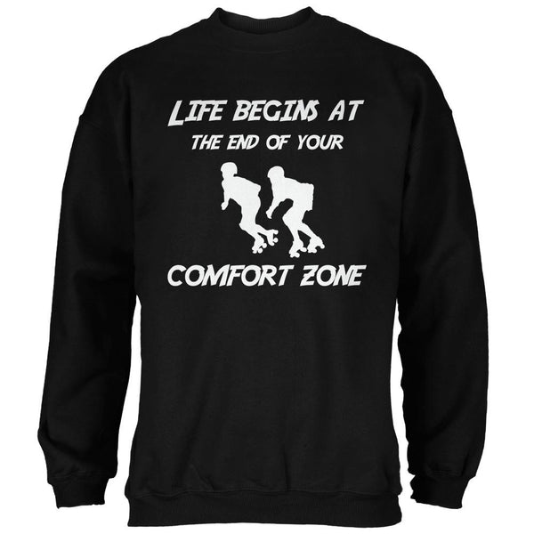 Comfort Zone Roller Derby Black Adult Sweatshirt