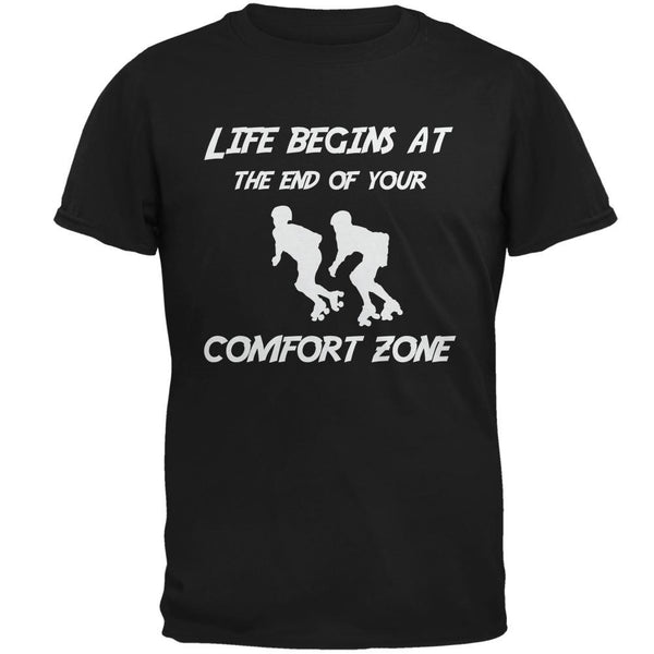 Comfort Zone Roller Derby Black Adult T-Shirt
