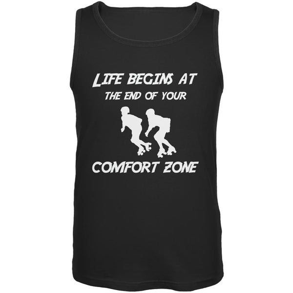 Comfort Zone Roller Derby Black Adult Tank Top