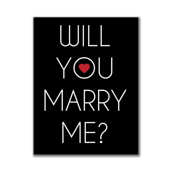 Will You Marry Me 4x3in. Rectangular Decal Sticker