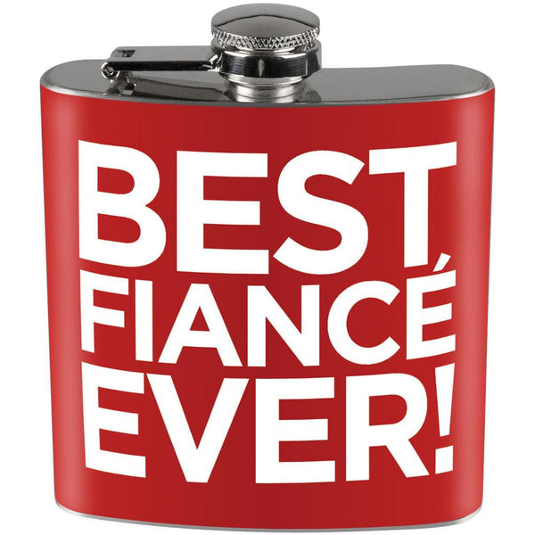Best Fiance Ever Full Wrap Steel Flask