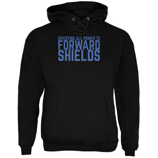 Diverting Power Forward Shields Funny Black Adult Hoodie